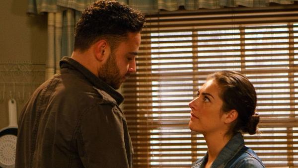 Things heat up between Adam and Victoria in Emmerdale