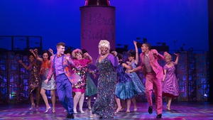 Brenda Edwards and the cast of Hairspray