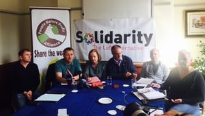Solidarity/PBP's six TDs speaking at a meeting in Dublin