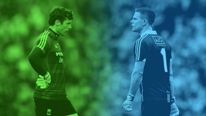 Stephen Cluxton (r) has changed goalkeeping for David Clarke and everyone else