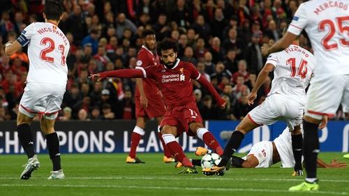 Salah score's Liverpool's second