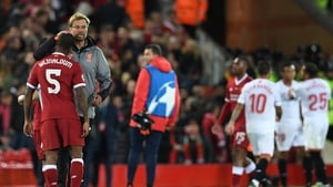 Jurgen Klopp and Liverpool had to settle for a point at Anfield