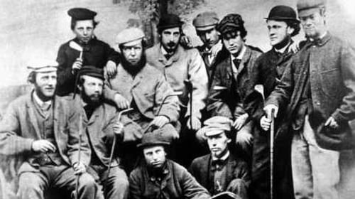 On this day in 1868 17-year-old Tom Morris (top left) registered the first hole-in-one in the Open