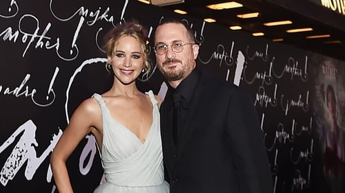 Jennifer Lawrence and Darren Aronofsky arrive arm-in-arm at Mother! premiere in New York