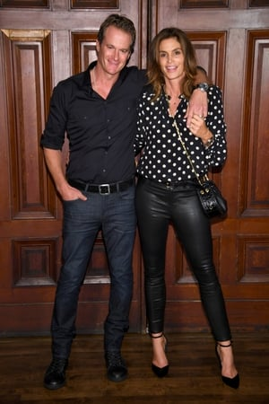 Rande Gerber & wife/supermodel/businesswoman Cindy Crawford at Marc Jacobs SS18 show. How incredible does Cindy look? 51? Amazing/depressing.