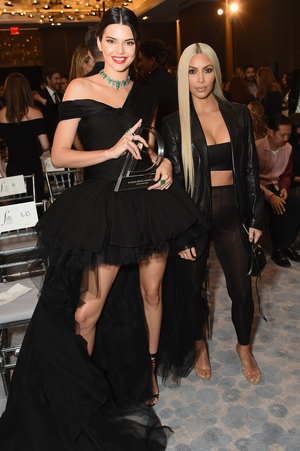 Kendall Jenner and Kim Kardashian West attend the Daily Front Row's Fashion Media Awards at Four Seasons Hotel during NY Fashion Week.