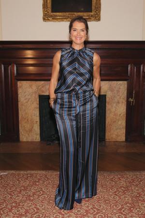 Actress Brooke Shields looked fabulous whilst attending the Sachin & Babi fashion show.