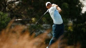 McIlroy in action during the first round of the BMW Championship