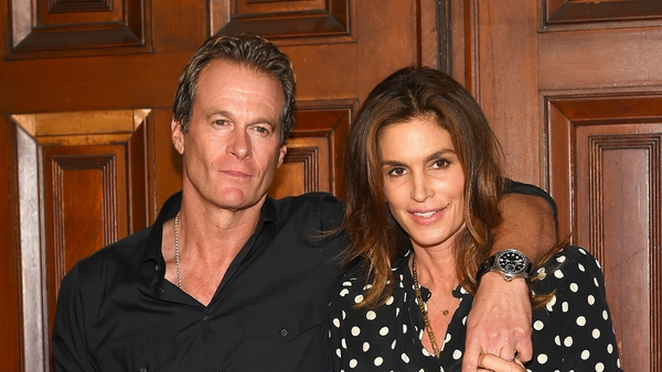 Rande Gerber and Cindy Crawford attended the Marc Jacobs Fashion Show during New York Fashion Week at Park Avenue Armory to watch their daughter work the catwalk.