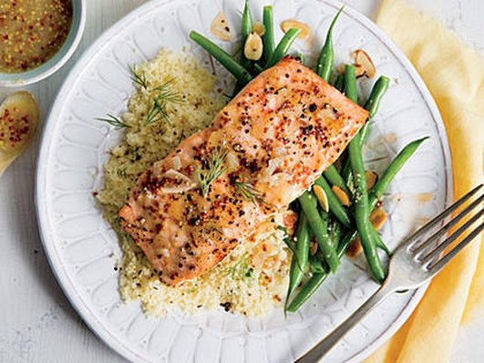 Neven's Recipes - A salmon and Cous Cous dish.