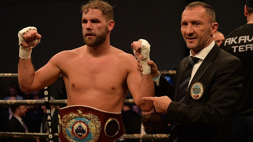 Son of champ Billy Joe Saunders punches opponent in groin at weigh-ins