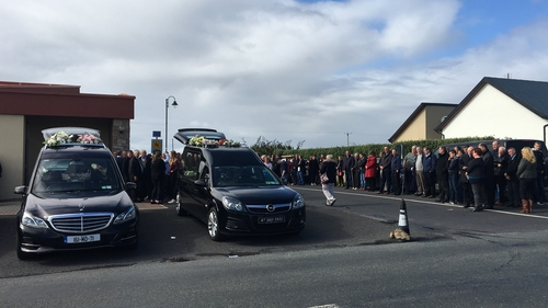 Hundreds of people attended the funerals in Belmullet