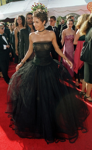 Actress Halle Berry wore a sheer Valentino gown to the 52nd Emmy Awards September in 2000
