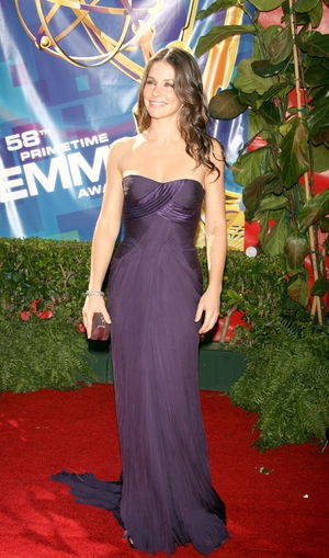 Evangeline Lilly was a vision in Versace in 2006.