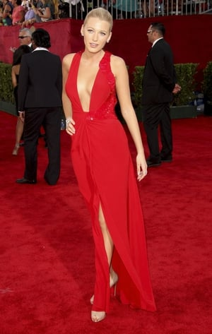 Blake Lively rocked the red carpet in this red Versace dress in 2009.
