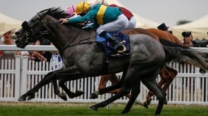 Coronet (grey) winning The Ribblesdale Stakes in June