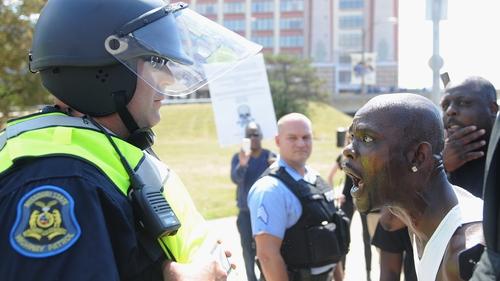 Arrests as protest in St Louis turns violent