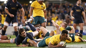 Will Genia claims one of Australia's six tries in Canberra