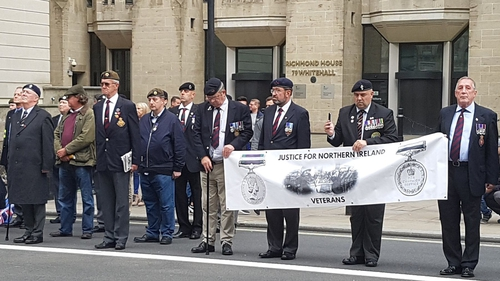 Justice for Northern Ireland Veterans organised a solidarity march in Westminster