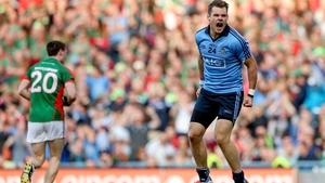 Kevin McManamon celebrates at full-time of the 2015 All-Ireland semi-final replay