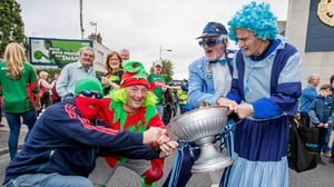 Mayo and Dublin fans tussle for Sam ahead of last year's All-Ireland final