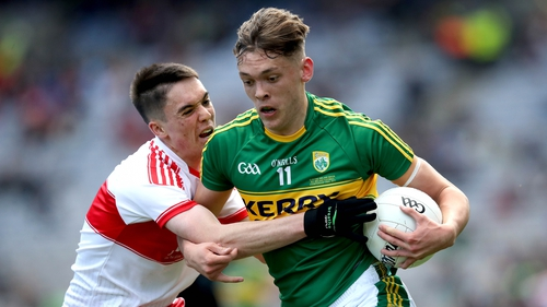 Derry's Conor McCluskey and David Clifford of Kerry