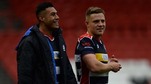 Ian Madigan (R) entered the action with 15 minutes to go