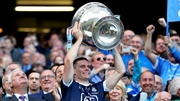Dublin captain Stephen Cluxton lifts Sam Maguire