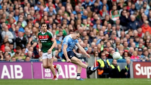 Dean Rock lands a last minute free to win the All-Ireland for Dublin