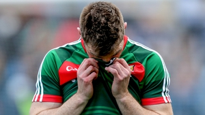 Seamus O'Shea dejected after the full-time whistle