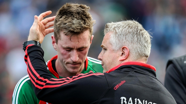 Mayo manager Stephen Rochford and Cillian O'Connor after another agonising loss