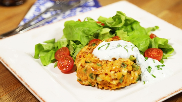 Curried Chickpea and Sweet Potato Burger: OT