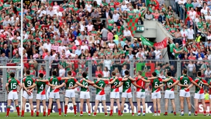The Mayo team line up before the 2013 All-Ireland semi-final against Tyrone