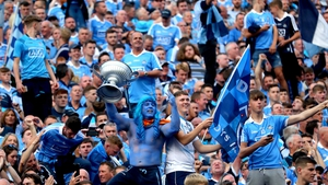 Dublin supporters celebrate their team's success