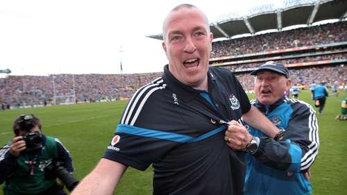 Pat Gilroy and Mickey Whelan after the 2011 All-Ireland final