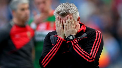 Mayo manager Stephen Rochford reacts to Sunday's All-Ireland final defeat