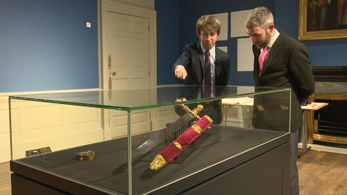 The sword was returned on loan to Dublin under tight security