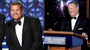 James Corden addresses Sean Spicer Emmys kiss controversy