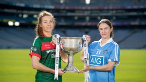 Rival captains - Sarah Tierney of Mayo and Dublin's Sinead Aherne