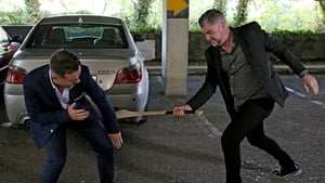 Robbie makes his point with a hurl