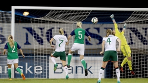 Megan Campbell scores Ireland's second goal
