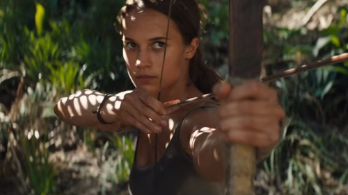 Alicia Vikander as Lara Croft in the first trailer for the Tomb Raider reboot