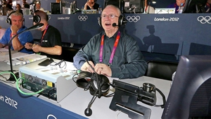 Jimmy commentating on Katie Taylor's gold medal fight at London 2012