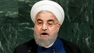 Iranian President Hassan Rouhani was speaking today at the United Nations General Assembly