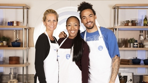 Angellica Bell (centre) saw off the challenge of Ulrika Jonsson and Dev Griffin