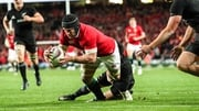 O'Brien in action against the All Blacks