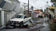 Damage to homes in the capital of Puerto Rico, San Juan