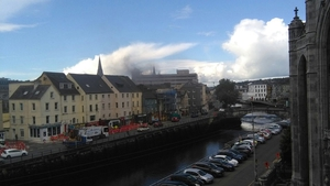 The multi-storey office block is said to be well alight