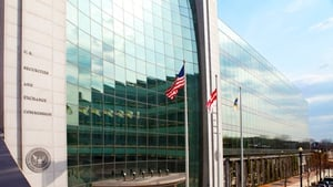 The headquarters of the Securities and Exchange Commission in Washington DC