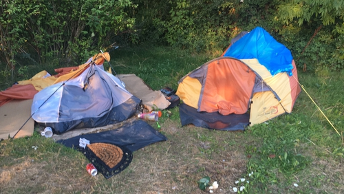 The homeless man, who was sleeping rough in a tent, was discovered unresponsive by his partner